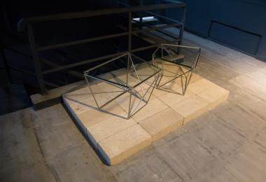 Wireframe Geometric Side Tables