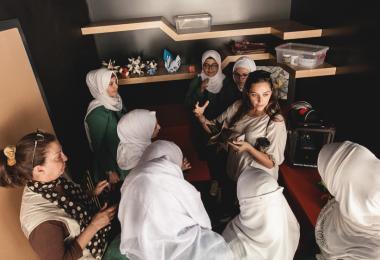 Nour Al Hussein Secondary School for Girls, Karak - Mobile MakerSpace 2017. Photo: Hareth Tabbalat