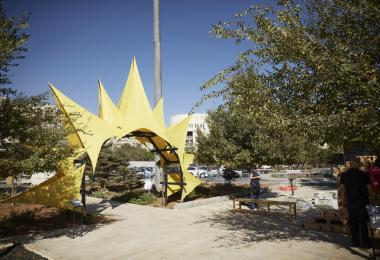The Sun Gate - Reham Sharbaji, Yanone © Amman Design Week 2017