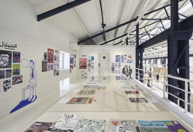 Comics at the Hangar Exhibition - Photo by Edmund Sumner © Amman Design Week 2019