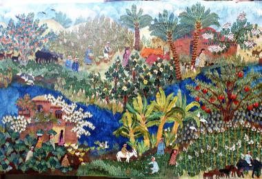 Fields and Countryside, 2017 by Nagla Farouk, Ramses Wissa Wassef Art Centre - Egypt © Amman Design Week 2019