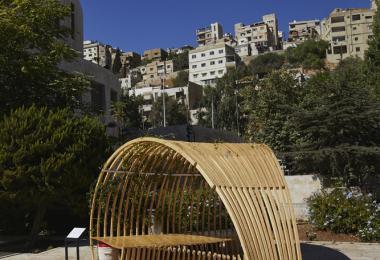 Green Pavilion, 2019 by FabLab Irbid - Shefa Jaber, Amro Sawan, Yazan Abu Dabaseh, Nadine Abu Tuhaimer, Qusai Malahmeh, Mahmoud Al-Helo © Amman Design Week 2019