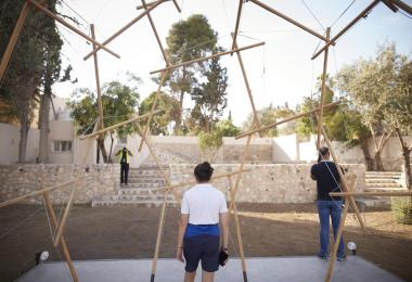 Reciprocal Frame Tensegrity Pavilion, 2019 by Yazeed Balqar © Amman Design Week 2019